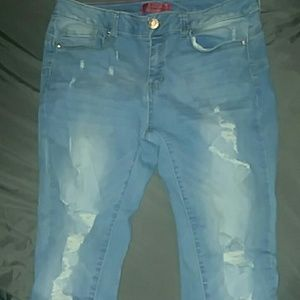 Wax Jeans Butt Lift Mid-Rise Jeans Stretch Size 11